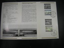 """BELG.1969 1514 & 1515 FDC Folder FR (Antwerpen & Liege) : """" Schelderoute & Autoroute """" - 1961-70"""
