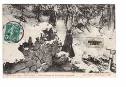 88 Bruyeres L' Hiver Dans Les Vosges Une Fontaine En Montagne Cpa Carte Animée Cachet St Dié 1910 - Bruyeres