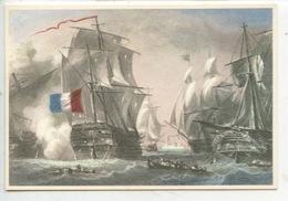 Grandes Voiles (n°1902 éd Deslée) Bataille Navale (cp Double Vierge) - Voiliers