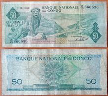 Congo 50 Francs 1962 F P-5 - Non Classificati