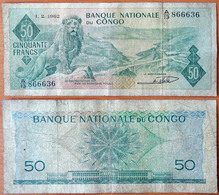 Congo 50 Francs 1962 F P-5 - Unclassified