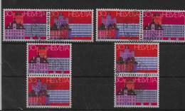 Combinaciones De Suiza Nº Zumstein Z-50/53 O - Se-Tenant