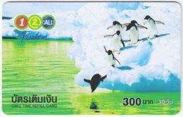 THAILAND E-499 Prepaid 1-2-Call - Animal, Penguin - Used - Thailand