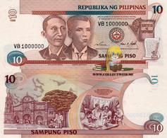 Philippines 10 Piso 1998 AUNC S/n 1000000 P-187c - Philippines