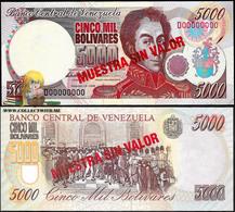 Venezuela 5000 Bolivares 10 Feb. 1998 UNC Specimen P-78bs - Venezuela