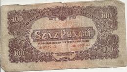 HONGRIE 100 PENGO 1944 VG+ P M8 - Hongrie