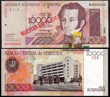 Venezuela 10000 Bolivares 2001 UNC Specimen P-85bs - Venezuela