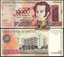 Venezuela 10000 Bolivares 2002 UNC Specimen P-85cs - Venezuela