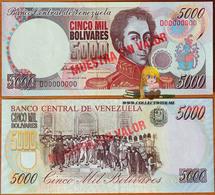 Venezuela 5000 Bolivares 6 Aug. 1998 UNC Specimen P-78cs - Venezuela