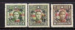 Return Of Concessions  MNH Chan JN561-3 (50) - 1941-45 Cina Del Nord