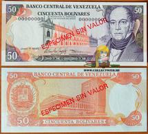 Venezuela 50 Bolivares 1995 UNC Specimen P-65es - Venezuela