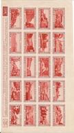 FEUILLE DE 20 VIGNETTES NEUF XX S/ CHARNIERES ERINNOPHILIE  2 - Commemorative Labels