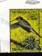 Nicaragua. 1992. Colibri De Rivoli.    Eugenes Fulgens - Hummingbirds