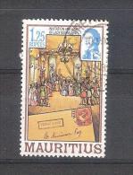 Mauricio 1983-1 Sello Usado-Invitación De Lady Gomm - Mauricio (1968-...)