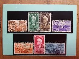 COLONIE ITALIANE - ETIOPIA - Vittorio Emanuele III° Nn. 1/7 Timbrati + Spese Postali - Etiopia