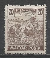 Hungary 1919. Scott #181 (M) Harvesting Wheat * - Hungary