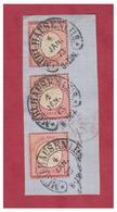 ALLEMAGNE -- ALSACE -- MULHOUSE -- SUR FRAGMENT 3 X 1 GROSCHEN N° 19-- 4 JANVIER 1873 -- - Germany
