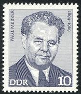 1909 Arbeiterbewegung Paul Merker 10 Pf ** - DDR