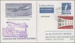 Erstflug Lufthansa BERLIN - NEW YORK, PP 19/8 BERLIN-ZENTRALFLUGHAFEN 14.10.1959 - Transports