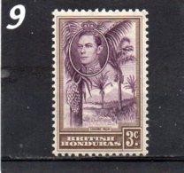 1938 GV1 3c MNH - British Honduras (...-1970)