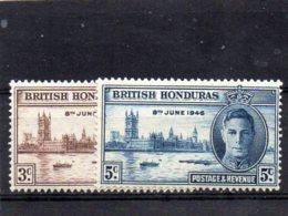 1946 Victory Pair MNH - British Honduras (...-1970)