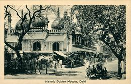 NEW DEHLI  Historic Golden Mosque  Ed Lal Chand & Sons Dariba Dehli - India