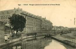 130319 - 59 LILLE Hospice Général Et Canal De La Basse Deule - Péniche - Lille