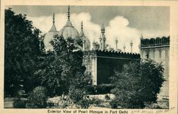 NEW DEHLI  Exterior View Of Pearl Mosque In Fort DEHLI Ed Chand & Sons Dariba Dehli - India