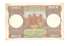 Maroc. Protectorat. Billet De 100 Francs Du 9-1-1950. - Marruecos
