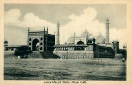 NEW DEHLI  Jama Masjid  Royal Gate DEHLI Ed Chand & Sons Dariba Dehli - India
