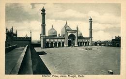 NEW DEHLI  Interior View Jama Masjid  DEHLI Ed Chand & Sons Dariba Dehli - India