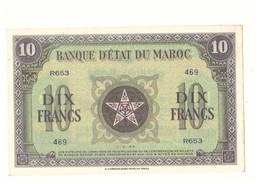 Maroc. Protectorat. Billet De 10 Francs Du 1-3-1944. - Maroc