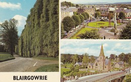 Postcard Blairgowrie Multiview PU 1977 My Ref  B12858 - Perthshire