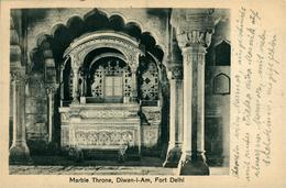 NEW DEHLI   Marble Throne Diwan I Am In Fort  DEHLI Ed Chand & Sons Dariba Dehli - India