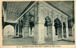 NEW DEHLI   Interior Diwan Khas With Throne In Fort  DEHLI  Ed. H  A Mirza - India