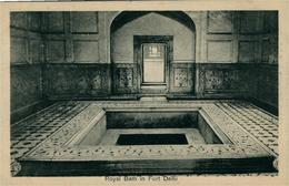 NEW DEHLI  Royal Bath In Fort  DEHLI  Ed. LAl Chand & Sons Dariba - India