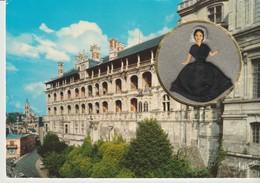CP - POUPÉE BLESOISE - BLOIS - MINIDOLL - VALLAZUR - POUPÉE TISSUS EN MÉDAILLON - VALOIRE - Blois