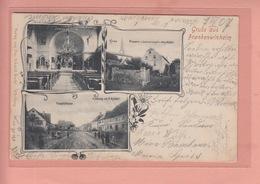 OLD POSTCARD - GERMANY - DEUTSCHLAND - GRUSS AUS FRANKENWINHEIM - HANDLUNG E. KRAEMER HAUPTSTRASSE - Schweinfurt