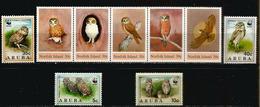 Chouettes Et Hiboux Des îles Norfolk & Aruba. 9 Timbres Neufs ** - Hiboux & Chouettes