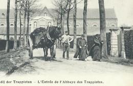 +++ CPA - WESTMALLE - Abdij Der Trappisten - Entrée De L'abbaye Des Trappistes - Attelage   // - Malle
