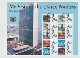 Nations Unies New York Année 2006 Feuillet 999-1003 Visiteurs Des NU Oblitéré - Gebraucht