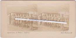 ORIGINALE-PHOTO-STEREO-1900-SOUTH-AFRICA-BOER-WAR-GUERRIERS+POLICE-HISTORICAL-PHOTO BY ACHILLE ROTSAERT-VINTAGE-TOP ! ! - Afrique Du Sud