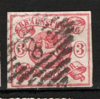 Germania Brunswick 1853 Unif. 10 O/Used VF/F - Brunswick