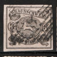 Germania Brunswick 1853 Unif.  9 O/Used VF/F - Brunswick
