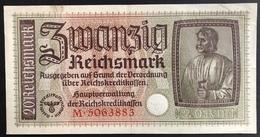 Germany 20 Reichsmark 1940 - 1945 - 1933-1945: Drittes Reich