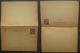 FRANCE Carte Postale Avec Réponse Entier Postal Timbre Semeuse 40c - Autres