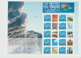 Nations Unies New York Année 2007 Feuillet 1053 L'avenir Est Entre Nos Mains Neuf ** MNH - Ungebraucht