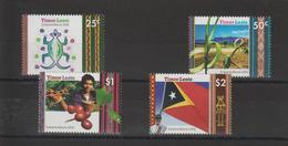 Timor Oriental 2002 Série Indépendance 357-360 4 Val ** MNH - Oceania (Other)