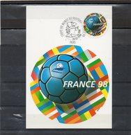 FRANCE   Carte Postale Premier Jour  Coupe Du Monde De Football 1998 - Soccer