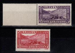 Andorre - YV 44 & 45 N** Cote 3,50 Euros - Neufs